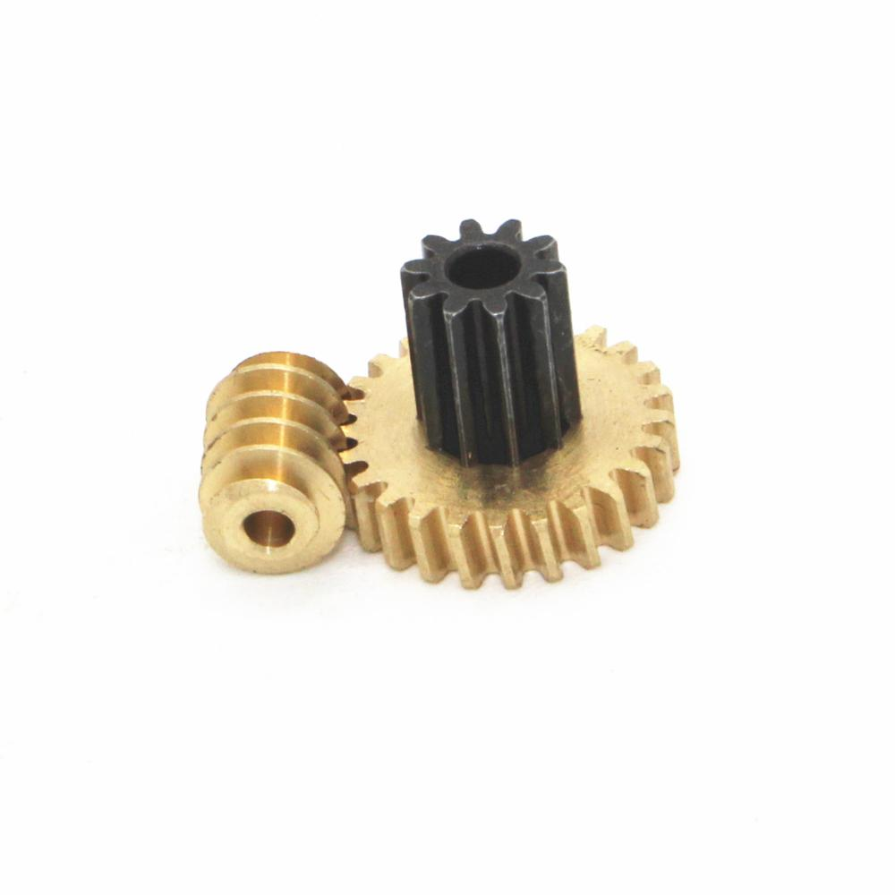 0.5M Copper Dual Worm Small Modulus 0.5M Duplex Gear For JGY-370 2mm Hole Diameter