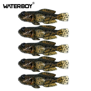 5pcs/pack 75mm 9.3g Goby Soft Swimbait 0.33oz 3inch Fish Baits Finest Detailed Softbait Fishing Lure