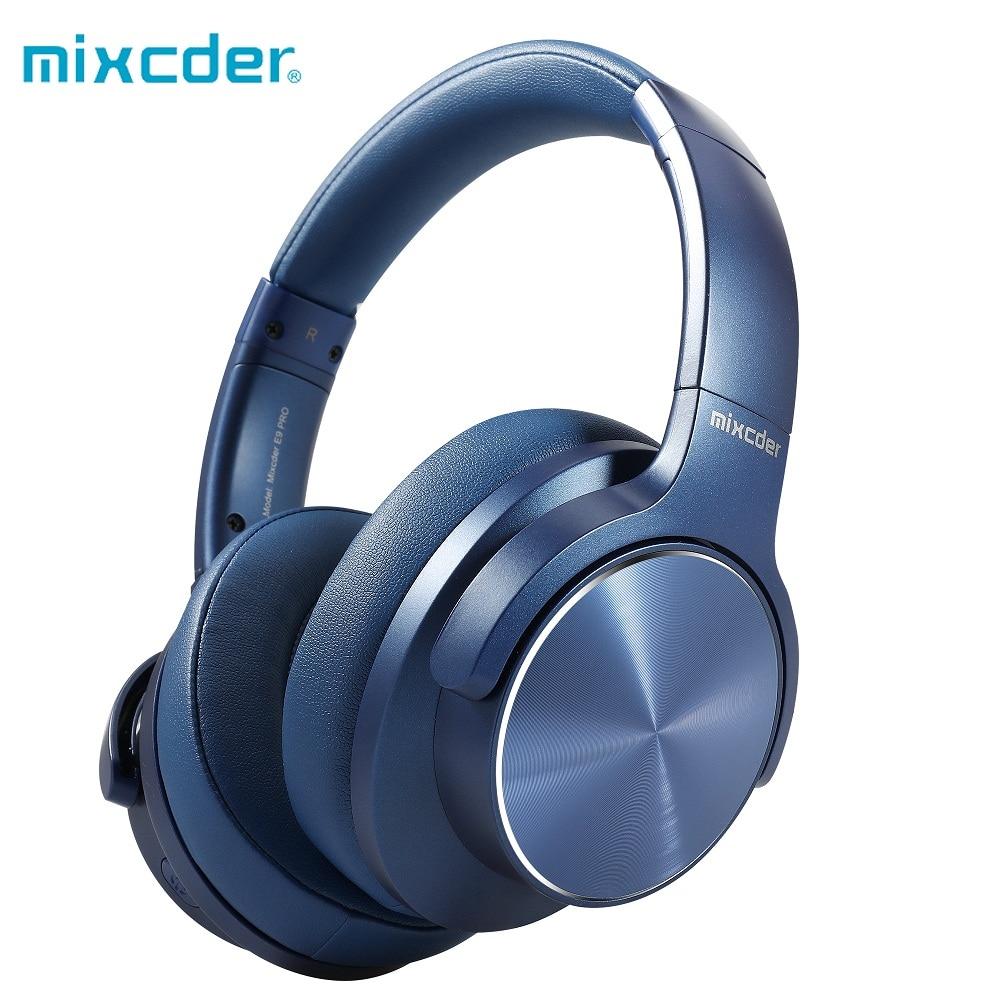 Mixcder e9 pro aptx hd fones de ouvido sem fio bluetooth cancelamento de ruído ativo usb carregamento rápido com microfone azul
