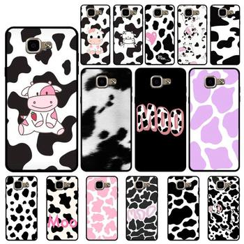 FHNBLJ Cow Print Phone Case for Samsung A6 A8 Plus A7 A9 A20 A20S A30 A30S A40 A50 A70 image