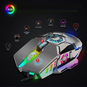 Image 3 - Seenda職業有線ゲーミングマウスrgb 7 ボタン 6400 dpi usbコンピュータマウスゲーマーと冷却ファンゲーミングマウス