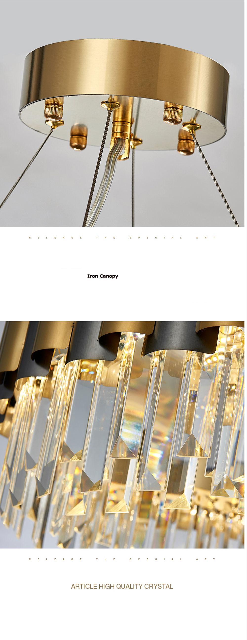 水晶吊灯客厅灯2019年新款简约后现代轻奢大气别墅餐厅不锈钢灯具-淘宝网_08