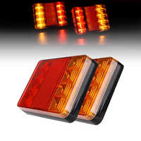 1pcs Car 12V 8LED Trailer Tail Light Left and Right Taillight Truck Car Van Lamp IP65 waterproof Trailer taillight