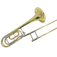 лучшая цена Bb/F Bass Trombones with case mouthpiece slide trombone brass musical instruments Lacquer silver plated