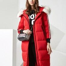 BOSIDENG women down jacket Big Size X-long down