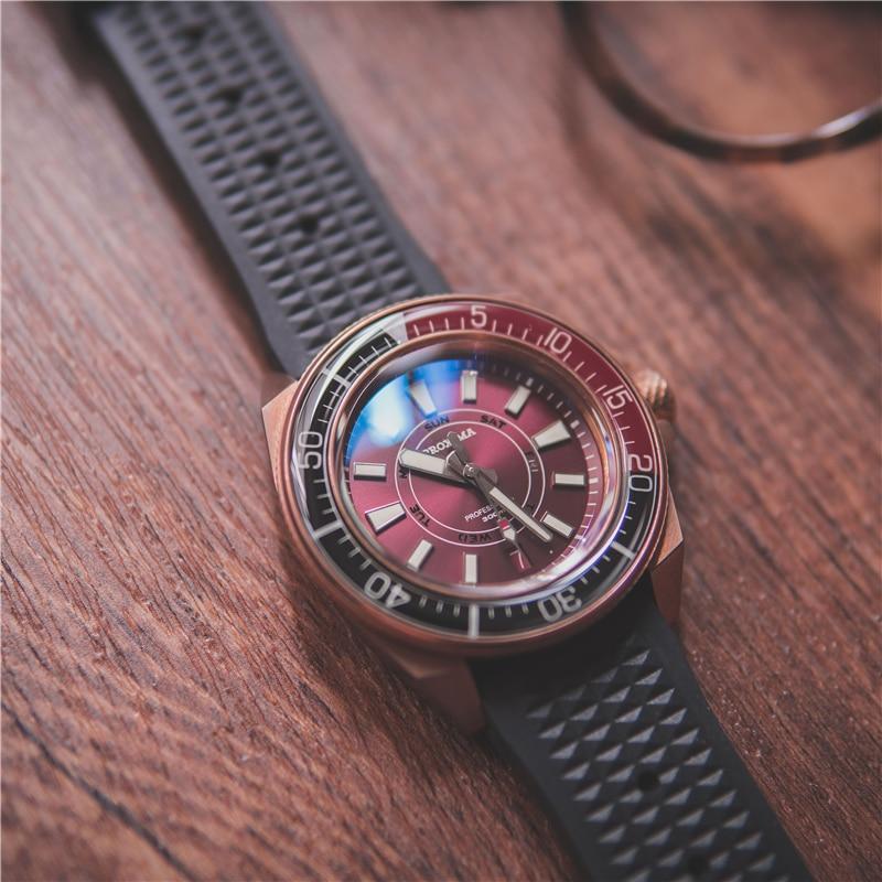 Мужские наручные часы proxima diver бронзовые автоматические