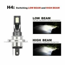 Headlight 2pcs H4 LED Fog lights 9003 HB2  50W Beam Driving DRL White 6000K