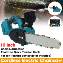 10 Inch 2000W Drillpro Cordless Chain Electric Chainsaw Garden Woodworking Power Tool