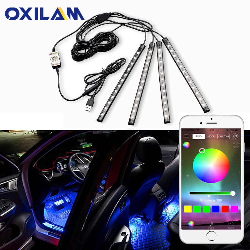 LED Ambient Light Car Decorative Lamp For Volkswagen VW Passat B6 Golf Touran Polo GTI Jetta Tiguan Touareg Interior Lighting