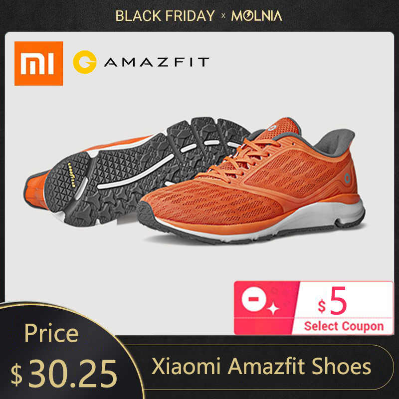 In Stock Xiaomi Amazfit Shoes Antelope Smart Shoes Lightweight Outdoor Sports Sneakers Rubber Sole Support Smart Chip Pk Mijia 2