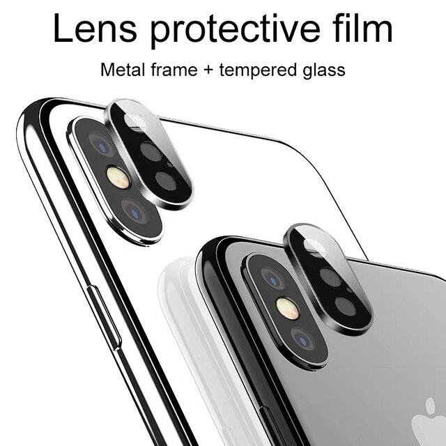 뒤로 카메라 렌즈 보호대 iphone 11 x xr xs 용 보호 유리 iphone 11 Pro max의 최대 강화 유리 flim 보호 유리