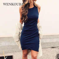 Sexy Summer Dress Women Sundress Sleeveless Dresses Irregular Hem Casual Bodycon Dress Plus Size Mini Dresses Vestidos De Verano