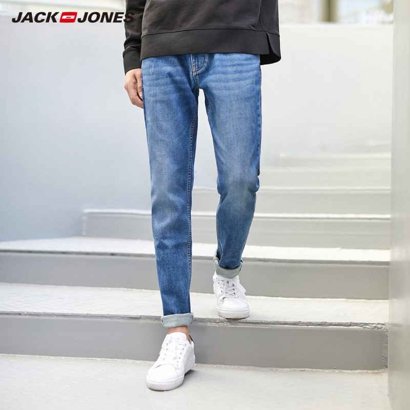 JackJones Men's Slim Fit Denim Pants Stretch Jeans Basic| 220132554