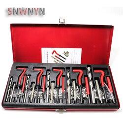 131pcs M5/M6/M8/M10/M12 Engine Block Restoring Damaged Thread Repair Tool Kit Professional Car Repair Tools
