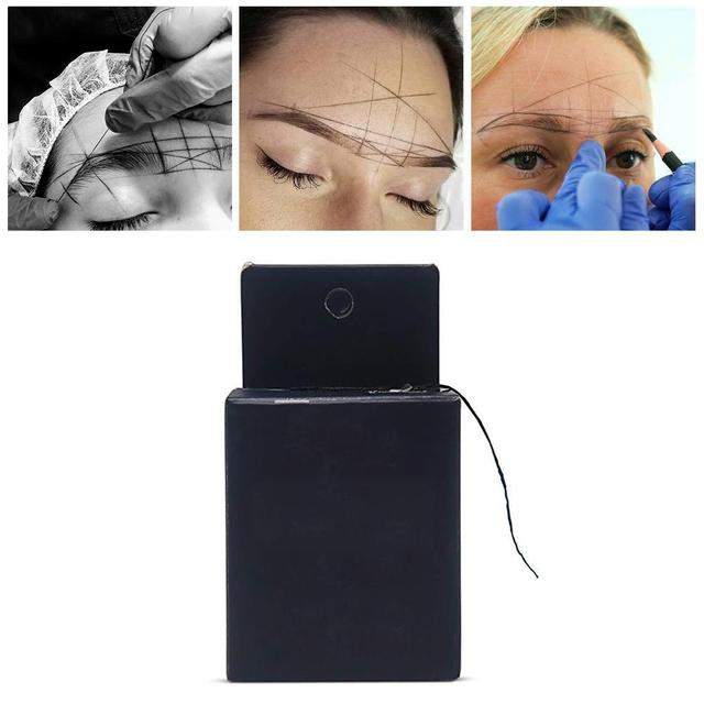 10m Pre-inked Brow Line String Eyebrow Marker New Microblading Tattoo Brows Marker Point Thread Eyebrow For Mapping S9J8