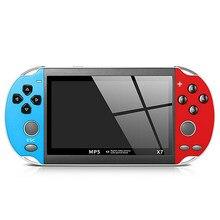 X7 Spiel Konsolen Tragbare Handheld Retro TV Video Gaming Mini Arcade Videogames Vidio Smart Gamepad Hand Gehalten Familie Tasche