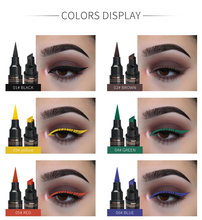 12 couleurs Double-tête liquide Eyeliner séchage rapide naturel joint noir Eyeliner crayon Antifouling aile timbre Eyeliner stylo TSLM2(China)