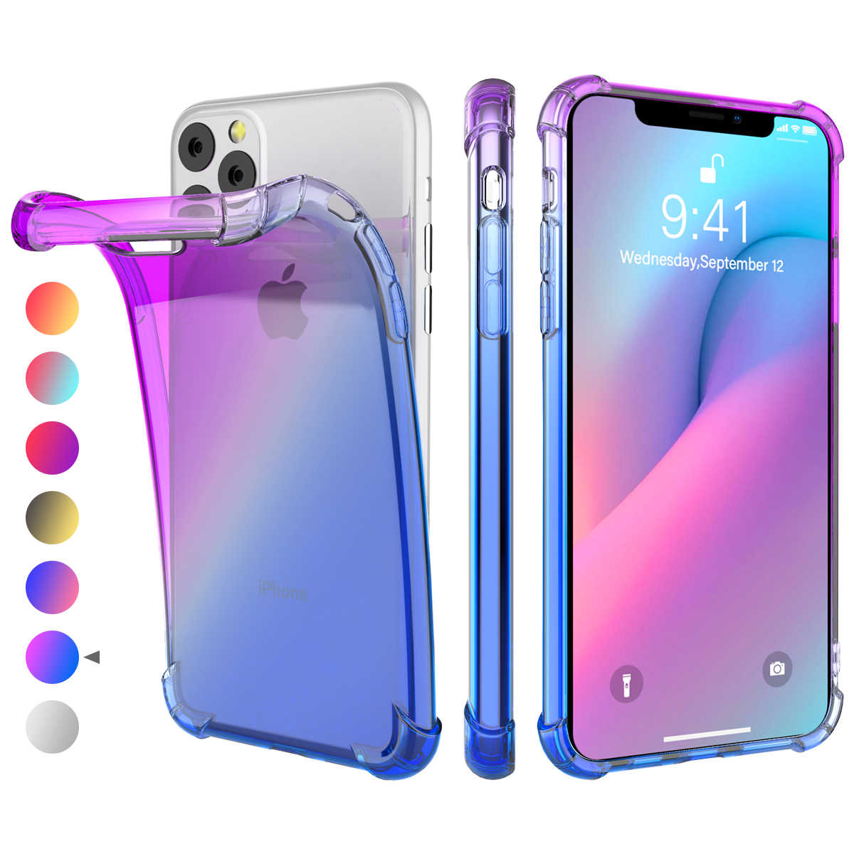 For iPhone 11 11 Pro 11 Pro Max Case Silicone Anti Scratch
