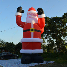 цена на Free Shipping Customized Giant Inflatable Santa Claus, Inflatable Cartoon Santa Claus, Advertising Christmas Party Decoration