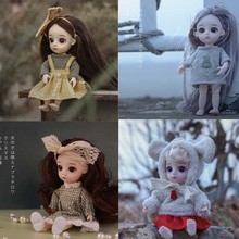 4PCS/LOT 16CM Princess Toy Doll Mini13 Movable Jointed Dolls BJD Baby Dolls Girl Toy Gifts 32cm traditional chinese queen dolls pretty girl bjd dolls movies