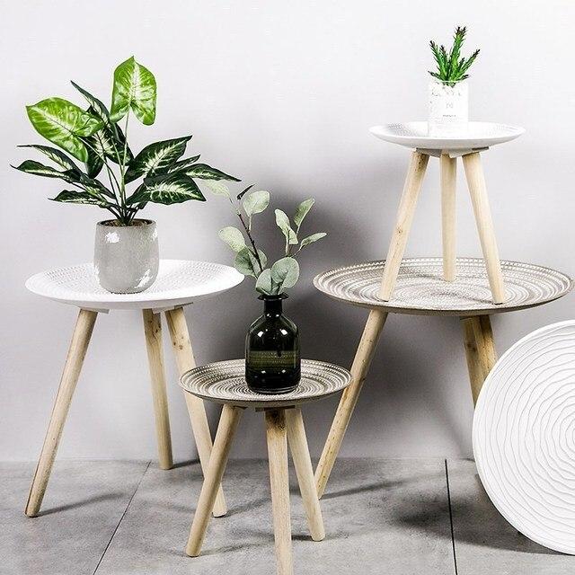 Creative Round Nordic Wood Coffee Table 2
