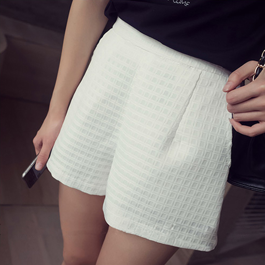 Women's Black Casual Shorts Autumn And Winter Fashion Shorts Wearing High Waist Was Thin Zipper Elastic Pocket Shorts Models