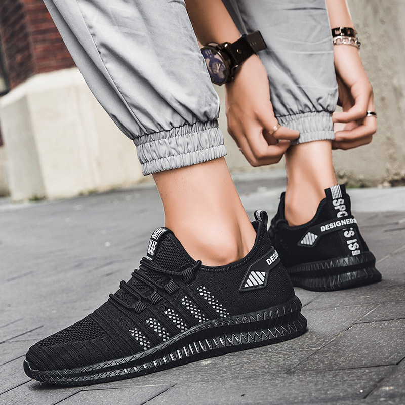 Image 3 - 2019 fashion casual shoes mesh men sneakers Lightweight Lac up Men Shoes Breathable Walking Sneakers KITLELER Zapatillas HombreMens Casual Shoes   -