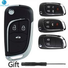 OkeyTech pour Chevrolet Lova/Aveo/Cruze coquille de clé de voiture à distance 2/3/4/5 boutons pour Opel Vauxhall Insignia Astra Mokka pour Buick