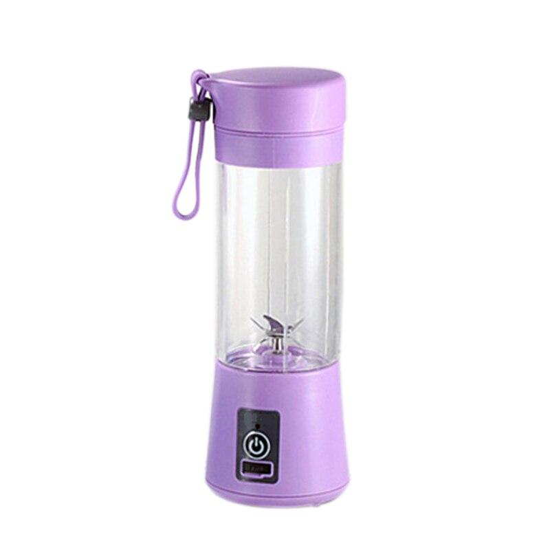 380Ml Mini Usb Rechargeable Portable Electric Fruit Juicer Smoothie Maker Blender Machine Sports Bottle 4 Sharp Blades Fruit M