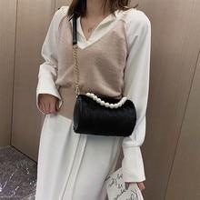 Beading Novelty Crossbody Bags Ladies Womens 2019 New Fashion Messenger Bag Corduroy Shoulder Bag Girl Cylinder Bag bolso hombre