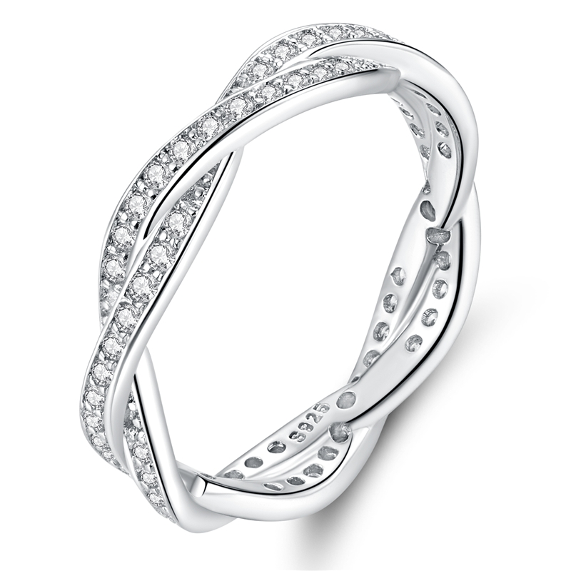 WOSTU Hot Sale 100% Real 925 Sterling Silver Crown Simple Rings Compatible With Original WST Lucky Ring Jewelry Dropshopping 3