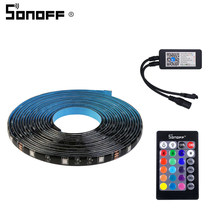 Sonoff L1 Intelligent LED Light Belt 2M RGB Dimmable Smart LED Light Strip Waterproof WiFi Mobile Control Work With Google Home