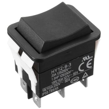 1 pieza 6 pines 18/20A 125/250V botón negro interruptor basculante ON OFF ON AC mini Rocker interruptores de alimentación HY12-9-3 modelo