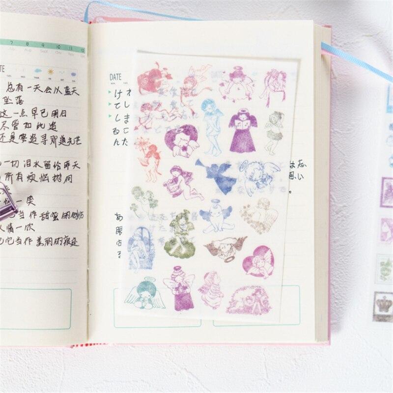 Купить с кэшбэком 6sheets/pack/lot Kawaii Korea Girl PVC Sticker Students'Cute Mini Diary Sticker For Decoration For Phone Deco Variety Of Styles