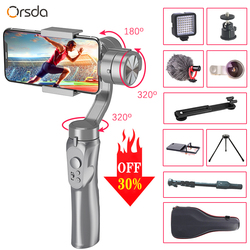Orsda 3-Axis Handheld PTZ Stabilizer Gimbal Smartphone Gopro Camera Selfie Stick Tripod For Phone IPhone11 Bluetooth connection
