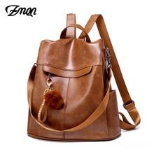 ZMQN plecak kobiety 2020 plecak z zabezpieczeniem przeciw kradzieży Mochila Feminina Vintage Bagpack szkolne torby skórzane dla kobiet plecak C131