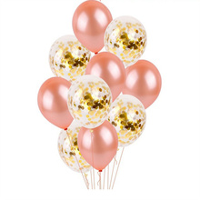 10pcs rose gold sequin latex balloon package wedding wedding romantic decoration birthday party decoration supplies balloons 5pcs pack balloon tassel 35cm paper tassel pull flower wedding party rose gold tassel decoration birthday arrangement wedding