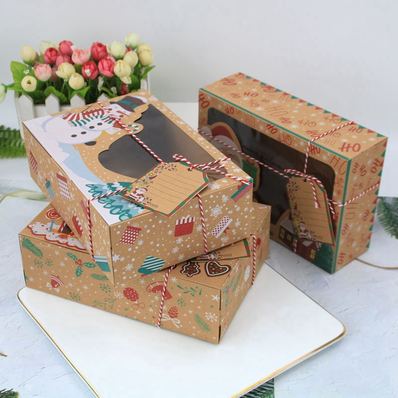 3/6/12PCS Kraft Paper New Creative Mini Gift Bag Box For Party Baby Shower Paper Chocolate Boxes Package/Wedding Favours Candy