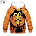 Детский пуловер с изображением аниме Бенди; Детские толстовки с 3d принтом; Толстовка для мальчиков и девочек; Куртка на молнии; Пальто; Одина...