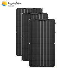 ETFE Flexible Solar Panel 300w 3pcs of 100W Panel Solar Monocrystalline Solar Cell  12V Battery Charger For Boat/Car 200w 400w