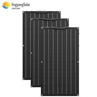 ETFE Flexible Solar Panel 300w 3pcs of 100W panel solar Monocrystalline solar cell 12V battery charger for boat/car 200w 400w