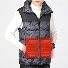 2021 Coats Men Jackets Heated Vest USB Energy-saving Waistcoat 3 Gears Control Heating Vest Men Winter Clothes мужская куртка