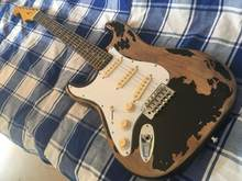 strat Left hand electric guitar handmade relic strat guitar Ash body custom body old hardware guitar(China)