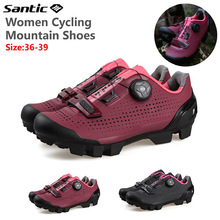 MTB Shoes Sneakers Mountain-Bike Anti-Slip Professional Breathable Sports Women Rotating-Lock