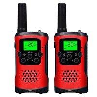 2 шт. 2-полосная детская рация 400-470 МГц мини радио до 6 км для детей наружный домофон игрушка в подарок