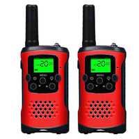 2Pcs 2-Way Kids Walkie Talkie 400-470Mhz Mini Radio Up to 6Km for Children Outdoor Intercom Toy Gift