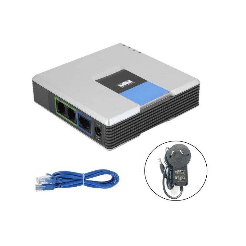 VOIP Gateway 2 Ports SIP V2 Protocol Internet Phone Voice Adapter