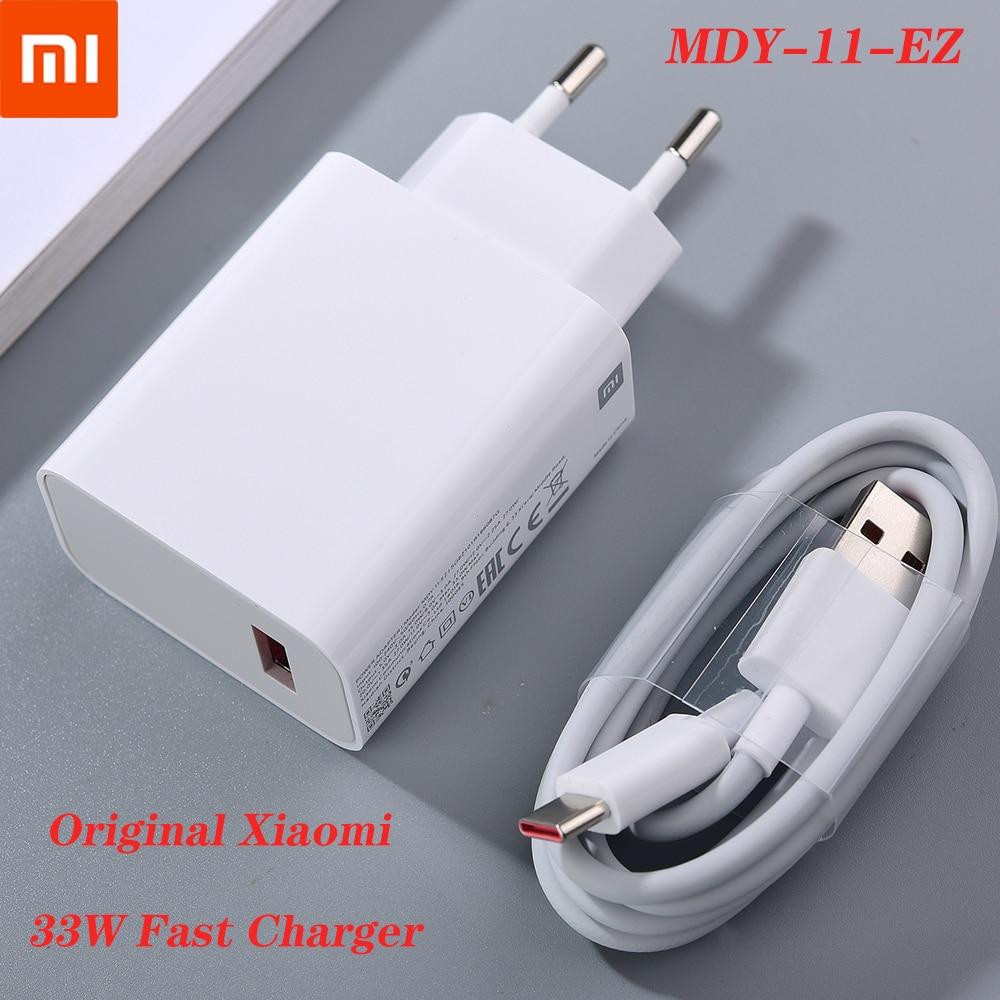 MDY-11-EZ оригинальный Xiaomi 33 Вт Быстрая зарядка usb-зарядка Европейского турбо зарядки на борту самолета Type C кабель для Mi 10 10T Lite POCO X3 NFC Redmi K30 K40 При...