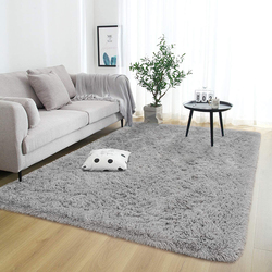 Fluffy rectangular rugs for living room decoration faux fur rugs kids room bedroom plush rugs fluffy area rugs modern cushions