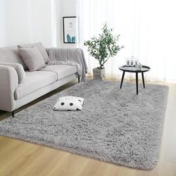 Tapis rectangulaires moelleux pour la décoration de salon tapis en fausse fourrure chambre d'enfants tapis en peluche petits tapis coussins modernes
